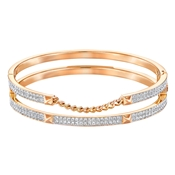 Swarovski Fiction Double Rose Gold Bangle