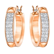 Swarovski Fiction Rose Gold Hoops