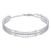 Swarovski Fine Rhodium Bangle