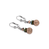 Coeur De Lion Rose Gold & Blue Pave Earrings