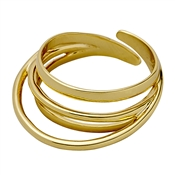 Pilgrim Gold Plated Curved Ring