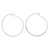 Silver Plated Classic Hoop Earrings by Pilgrim