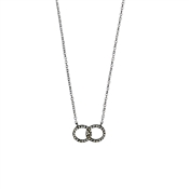 Pilgrim Silver Plated Open Circle Necklace