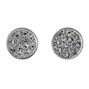 Pilgrim Silver Plated Pave Disc Earrings