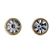 Pilgrim Gold Plated Round Crystal Earrings