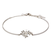 Pilgrim Silver Plated Crystal Tree Bracelet