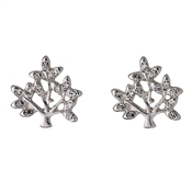 Pilgrim Silver Plated Crystal Tree Earrings