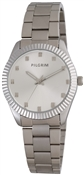 Pilgrim Medium faced Silver Plated Link Watch