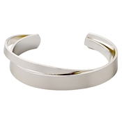 Pilgrim Silver Plated Solitary Wrap Bangle