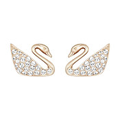 Swarovski Mini Swan Rose Gold Earrings