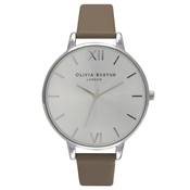 Olivia Burton Big Dial Taupe & Silver Watch
