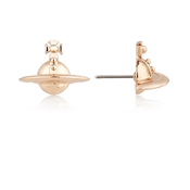 Vivienne Westwood Rose Gold Orb Earrings