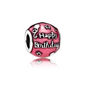 PANDORA Cerise Happy Birthday  Charm
