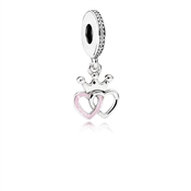 PANDORA Interlocked Crown And Hearts Drop Charm