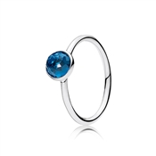 PANDORA December Droplet Birthstone Ring