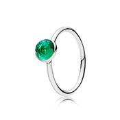 Pandora May Droplet Birthstone Ring