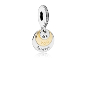 PANDORA Me & You Forever Two Tone Charm
