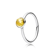 PANDORA November Droplet Birthstone Ring