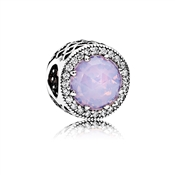 PANDORA Opalescent Radiant Heart Crystal Charm