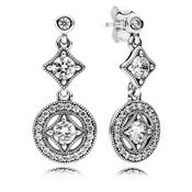 Pandora Vintage Allure Crystal Drop Earrings