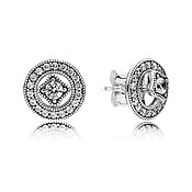 PANDORA Vintage Shine Silver Earrings