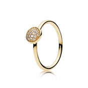 PANDORA Dazzling Crystal Droplet Gold Ring