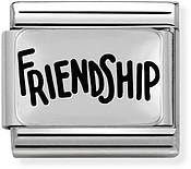 Nomination Silver Friendship Charm