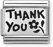 Silver Thank You Charm by Nomination
