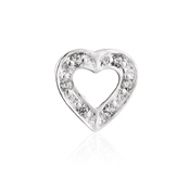 Storie Sparkly Open Heart Charm