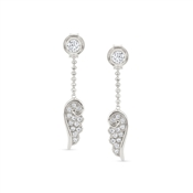 Nomination Angel Wings Silver Drop Earrings