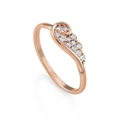 Nomination Angel Rose Gold Wing Ring (M)