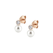 Nomination Bella Rose Gold Swarovski Pearl Stud Earrings
