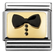 Nomination Glitter Nights Black Bow Tie Charm