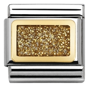 Nomination Glitter Nights Gold Square Charm