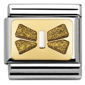 Nomination Glitter Nights Sparkly Gold Bow Charm