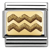 Nomination Glitter Nights Gold Zig Zag Charm