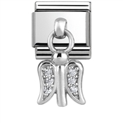 Silver Dangly Guardian Angel Charm by Nomination