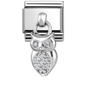 Nomination Silver Dangly Wise Owl Charm