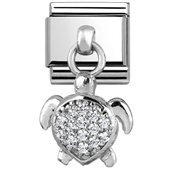Nomination Silver Sea Turtle Charm