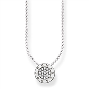 Thomas Sabo Pave Branded Circle Necklace