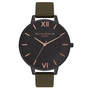 Olivia Burton After Dark Matte Black & Khaki Watch
