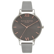 Olivia Burton Big Dial Grey & Silver Watch