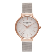 Olivia Burton Hackney Rose Gold & Silver Mesh Watch