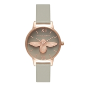 Olivia Burton Midi Moulded Bee Grey Dial & Rose Gold Watch