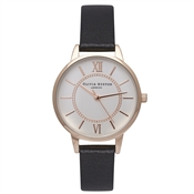 Olivia Burton Wonderland Midi Dial Black, Rose Gold & Silver Mix