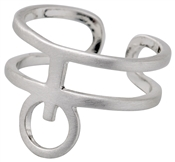 Pilgrim Silver Abstract Cuff Ring
