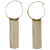 Pilgrim Gold Chain Hoop Earrings