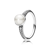 PANDORA Elegant Pearl Beauty Ring