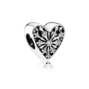 PANDORA Frosted Heart Charm