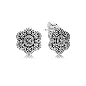 PANDORA Ice Floral Stud Earrings